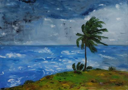 Bouřka nad Samaná (Dominikánská republika)
